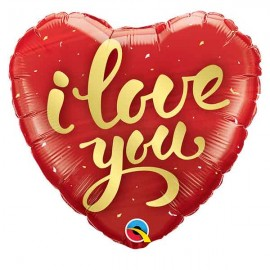 "Globos Foil 18"" (45Cm) I LOVE YOU Dorado"