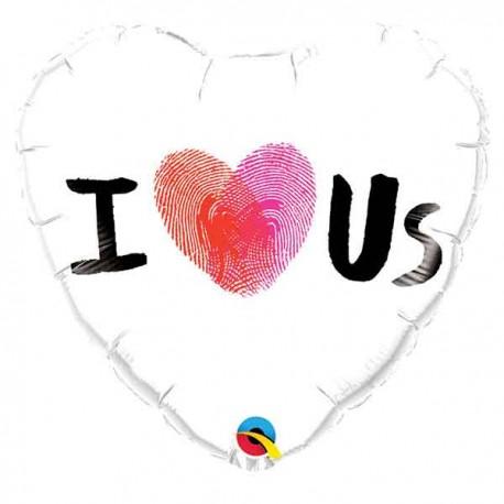 "Globos Foil de 18"" (45Cm) I LOVE US"
