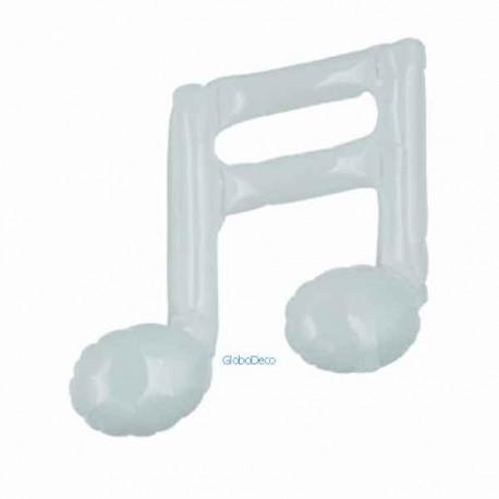 """Globos foil 9"""" Nota musical Blanca Doble"""