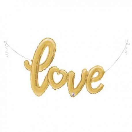 "Globos de foil de 47"" (119Cm) Love Oro"