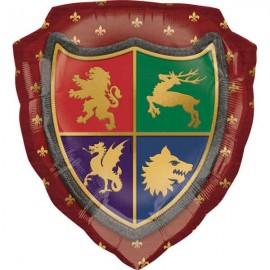 """Globos de foil 17"""" (45Cm) Escudo Medieval"""