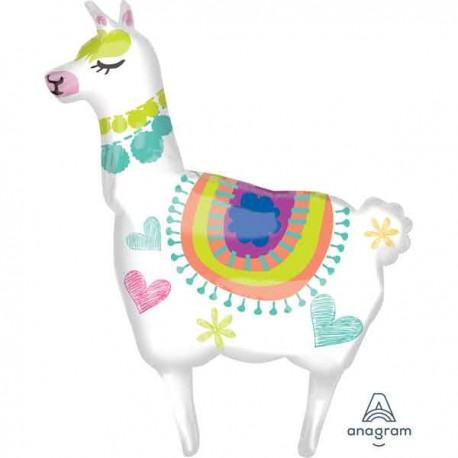 "Globos Supershape Foil 41"" x 28"" Llama"