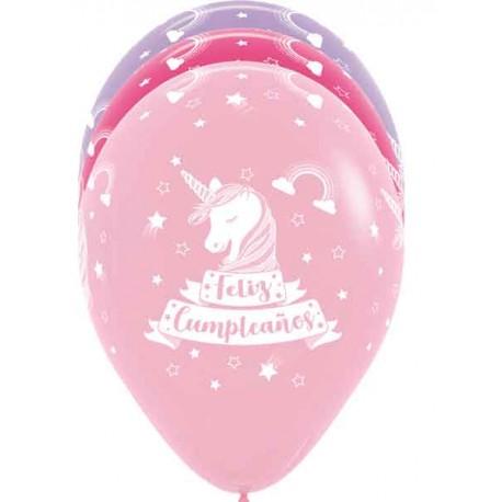 Globos R-12 (30Cm) Cumpleaños Unicornio