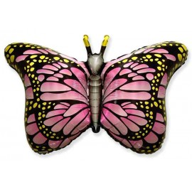 Globos de Foil Supershape Mariposa Fucsia