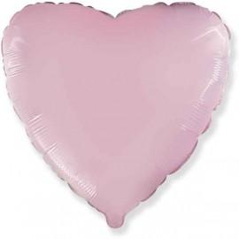 """Globos Foil Corazones 32"""" (81Cm) Baby Pastel Rosa"""