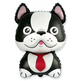 Globos de Foil Supershape Bulldog Frances Negro