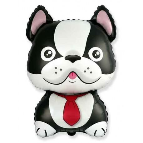 Globos de Foil Supershape Bulldog Frances Negro