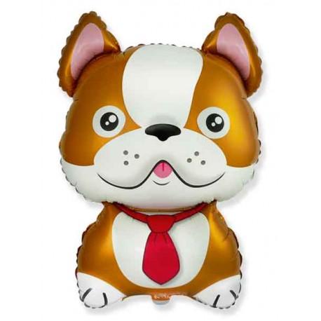 Globos de Foil Supershape Bulldog Frances Marron