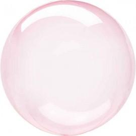 """Globos 18"""" Circulo Cristal Rosa Oscuro"""