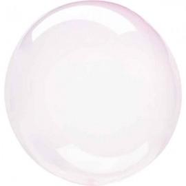 "Globos 18"" Circulo Cristal Rosa Claro"