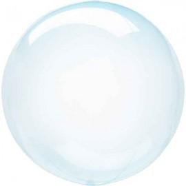 """Globos 18"""" Circulo Cristal Azul"""