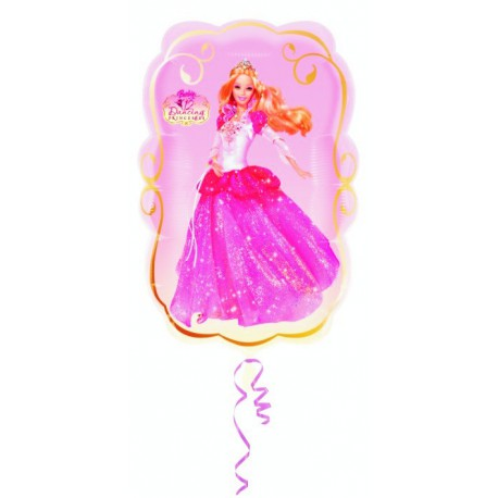 "GLOBOS DE FOIL SUPERSHAPE 16"" X 25"" BARBIE BAILARINA"