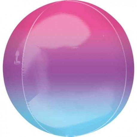 """Globos ORBZ 16"""" Azul Y Purpura"""