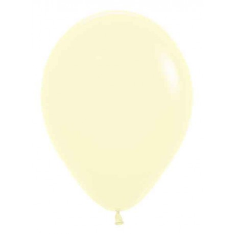 "Globos de 11"" Pastel Amarillo Mate"
