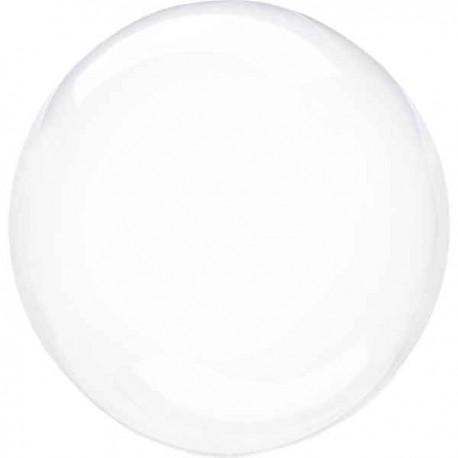 "Globos 18"" Circulo Cristal Transparente"