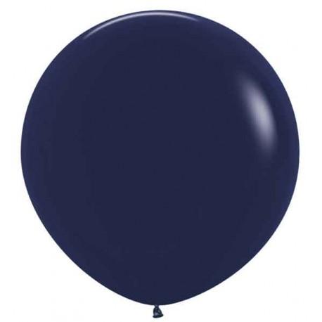 """Globos de Látex de 24"""" (61Cm) Azul Naval"""