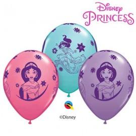 "Globos 11"" Princesa Jasmine Disney B6"