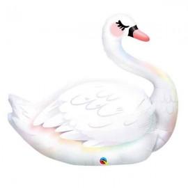 """Globos de foil 35"""" Cisne Elegante Qualatex"""