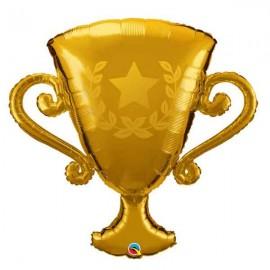 """Globos de foil 39"""" Trofeo Dorado Qualatex"""