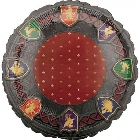 """Globos de foil 17"""" (43Cm) Medieval"""
