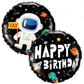 "Globos foil 18"" Birthday Astronauta"