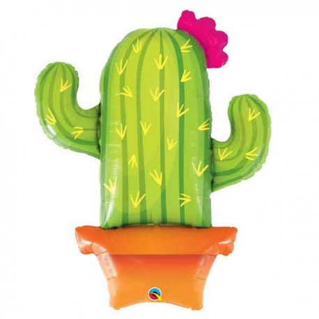 "Globos de Foil 39"" Cactus Qualatex"