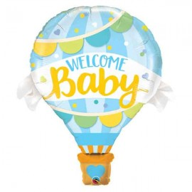 "Globos Foil de 42"" Welcome Baby Azul"