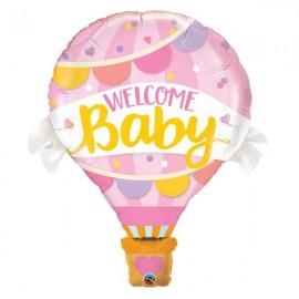 "Globos Foil de 42"" Welcome Baby Rosa"