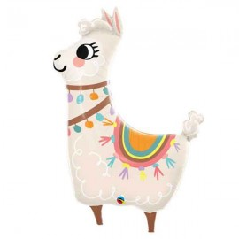 "Globos Supershape Foil 45"" Llama Adorable"