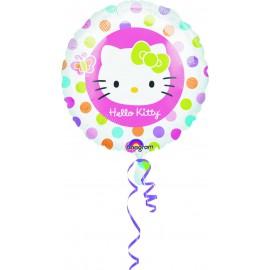 """Globos de foil de 18"""" Hello Kitty lunares"""