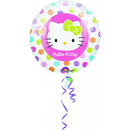 "GLOBOS DE FOIL 18"" HELLO KITTY LUNARES"