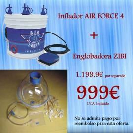 Englobadora Zibi + Inflador Air Force 4