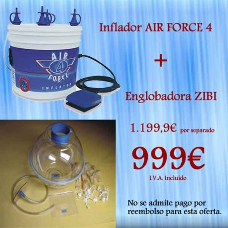 Englobadora Zibi + Inflador Air Force 4