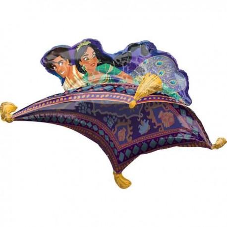 """Globos Foil 42"""" x 25"""" Alfombra Aladin"""