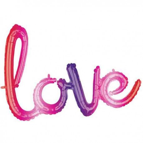 """Globos de Foil de 31"""" (78cm) Love Colores"""