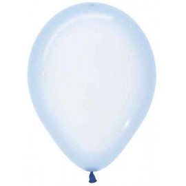 "Globos 11"" Cristal Pastel Azul"