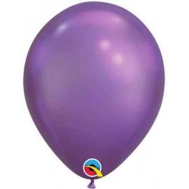 "Globos Latex 7"" Chrome Purple Qualatex"