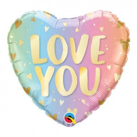 """Globos Foil 18"""" (45Cm) LOVE YOU Pastel"""