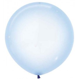 "Globos Látex 24"" (61Cm) Cristal Pastel Azul"