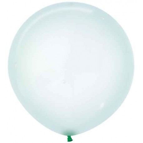 "Globos Látex 24"" (61Cm) Cristal Pastel Verde"