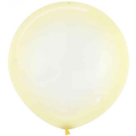 """Globos Látex 24"""" (61Cm) Cristal Pastel Amarillo"""