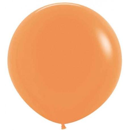 "Globos Látex 24"" (61Cm) Neon Naranja"