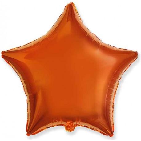 "Globos de foil Estrellas 18"" Naranja"