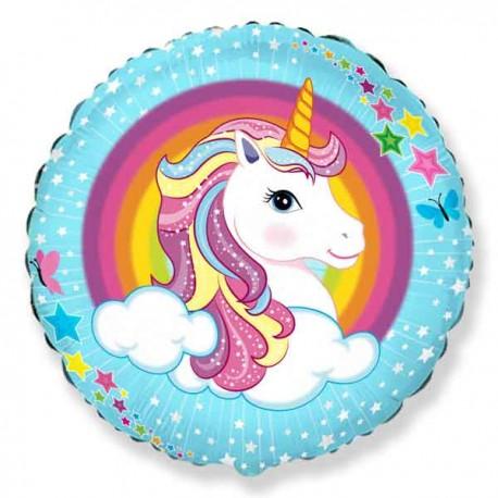 "Globos de Foil Redondos 18"" (46Cm) Unicornio"
