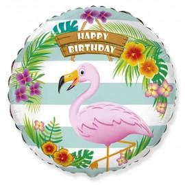 """Globos de Foil Redondos 18"""" (46Cm) Flamingo"""