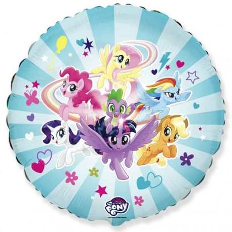 "Globos Foil Redondos 18"" Little Pony Team"