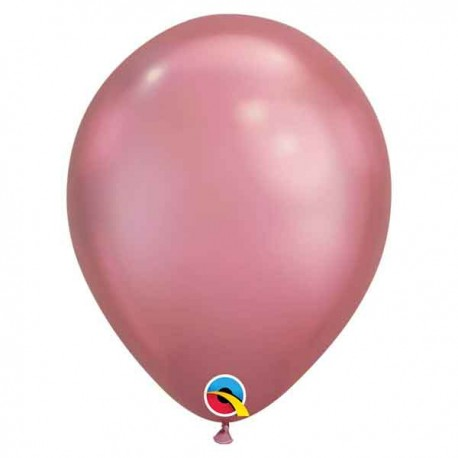 "Globos Latex 7"" Chrome Malva Qualatex"
