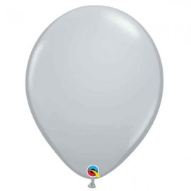"Globos Redondos de 16"" Gris Qualatex"