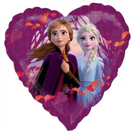"""Globos de foil 17"""" Frozen 2 Corazon"""