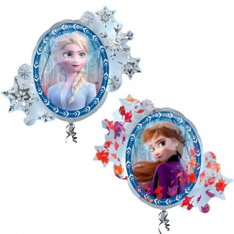 "Globos Foil supershape de 30"" X 26"" Frozen 2"